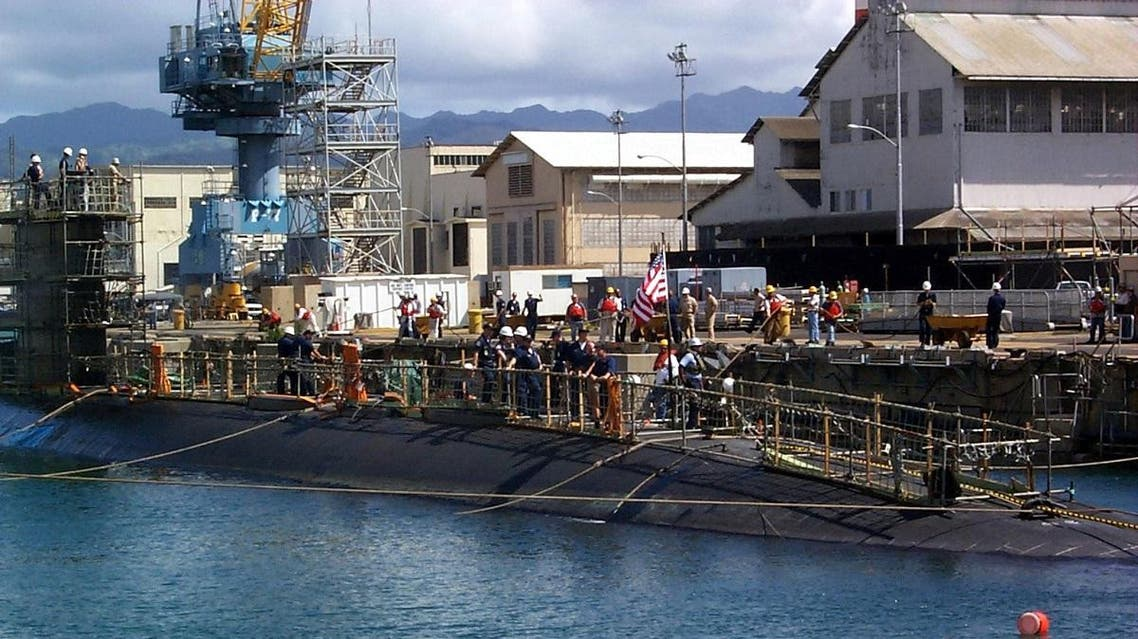 This photo released by the US Navy shows the USS Greeneville as it arrives 20 February 2001, at Pearl Harbor Naval Shipyard in Honolulu, Hawaii. (AFP)
