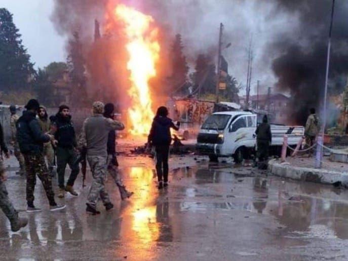 سوريا.. مقتل 8 بينهم أتراك في 4 تفجيرات  برأس العين