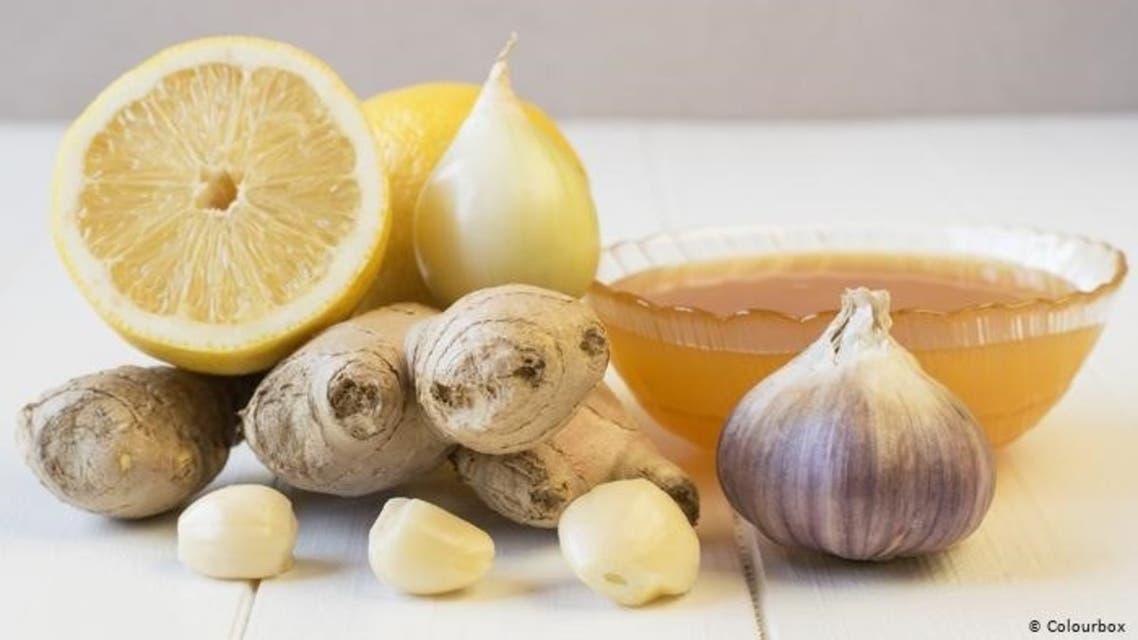 .نجبیل، لیمو، سیر و عسل