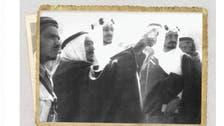 مسجد نبوی کے تعمیراتی منصوبے کا دورہ ۔۔۔ شاہ سعود اور شاہ فیصل کی یادگار تصویر