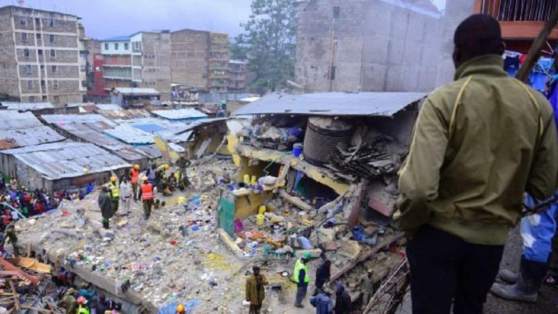 A six-story building has collapsed in Kenya's capital, Nairobi. (Photo: AFP)