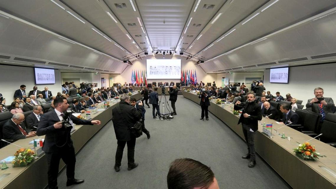 General view of a meeting of oil ministers of the Organization of the Petroleum Exporting Countries, OPEC, at their headquarters in Vienna, Austria, Austria, on December 5, 2019. (AP)