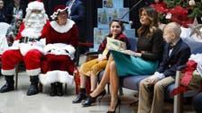 صور.. ميلانيا ترمب تقرأ قصصا لأطفال سيقضون الميلاد بمستشفيات