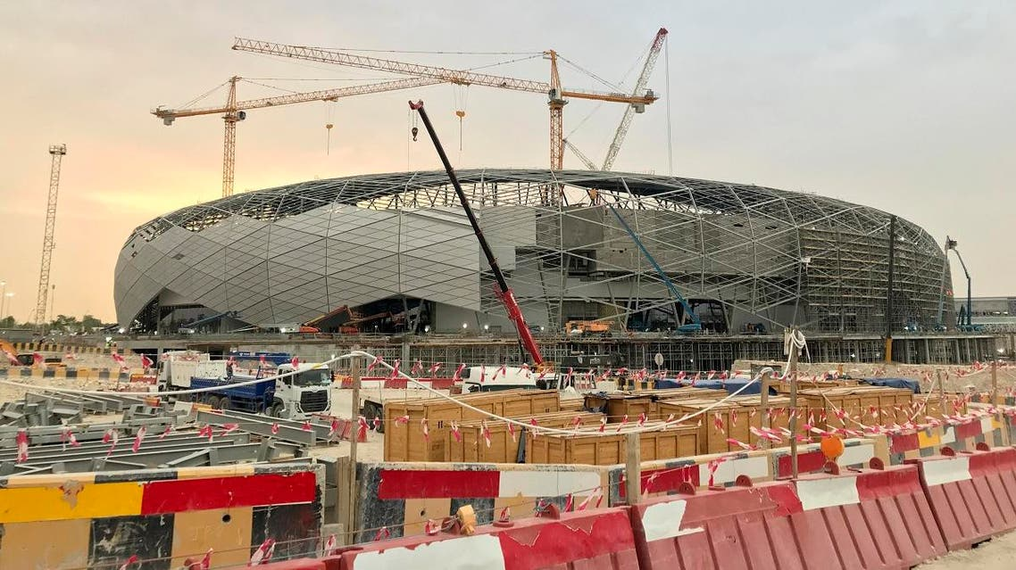 A picture taken during a media tour organised by Qatar's Supreme Committee for Delivery and Legacy on May 18, 2019, of construction work at the site of the future Education City Stadium in Doha. (AFP)