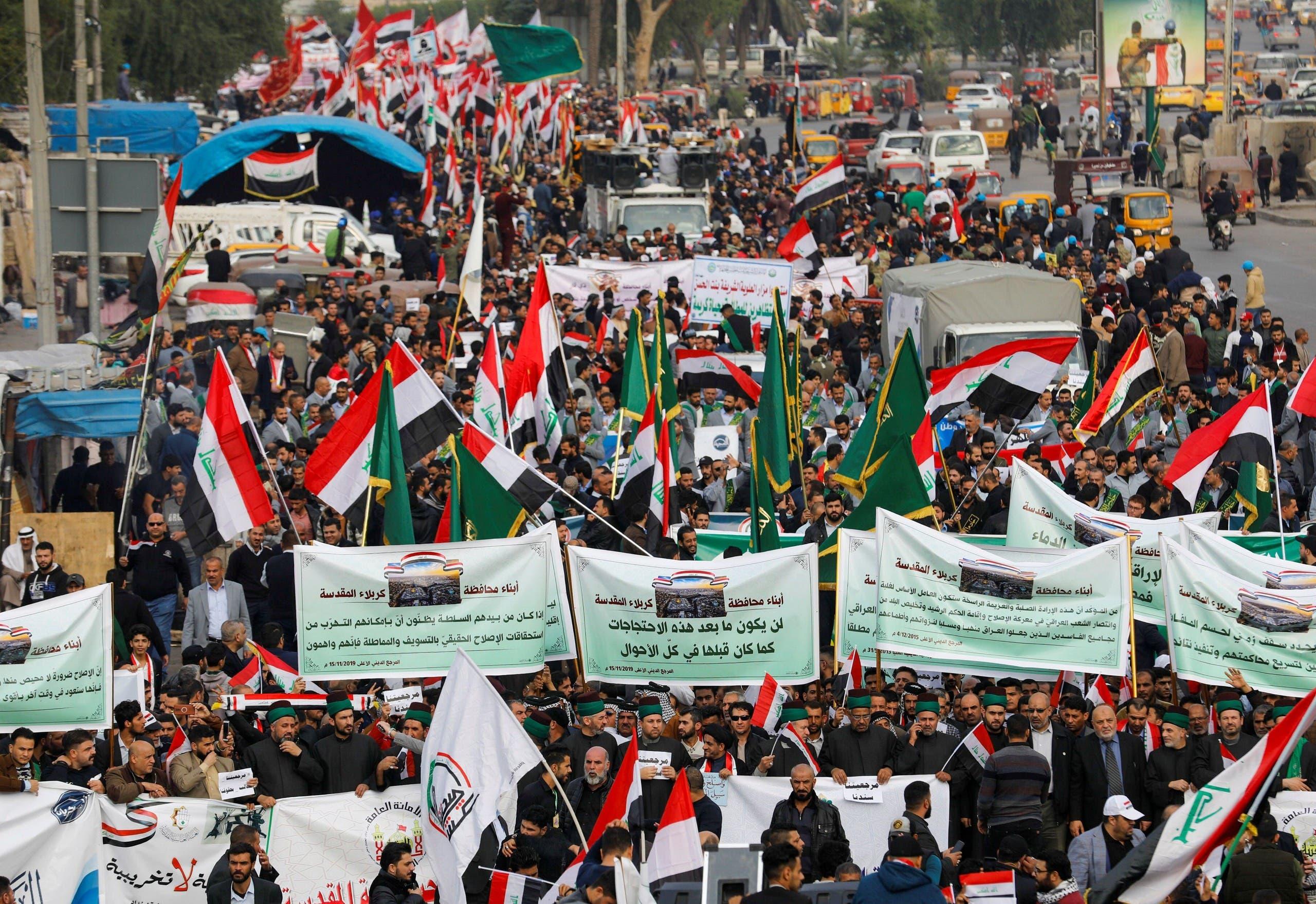 برلمان العراق يتعهد بمحاسبة الجهة التي قتلت المتظاهرين