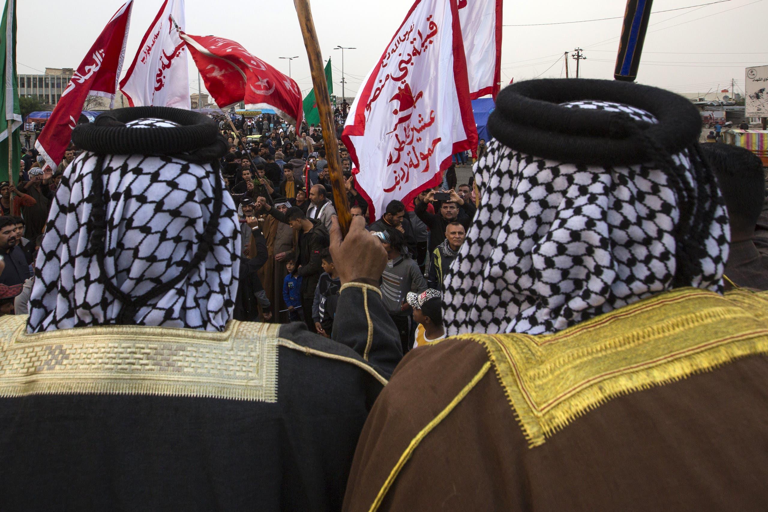 من مشاركة العشائر باحتجاجات العراق