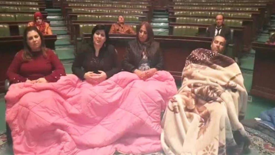 اعتصام داخل برلمان تونس
