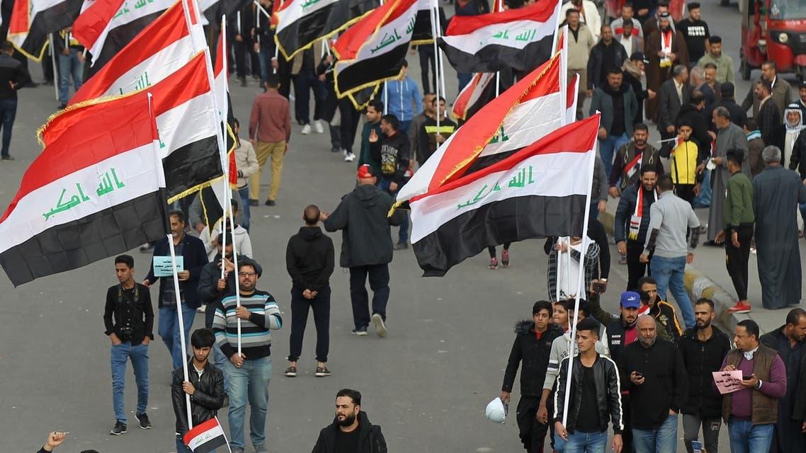 من ساحة التحرير في بغداد الجمعة