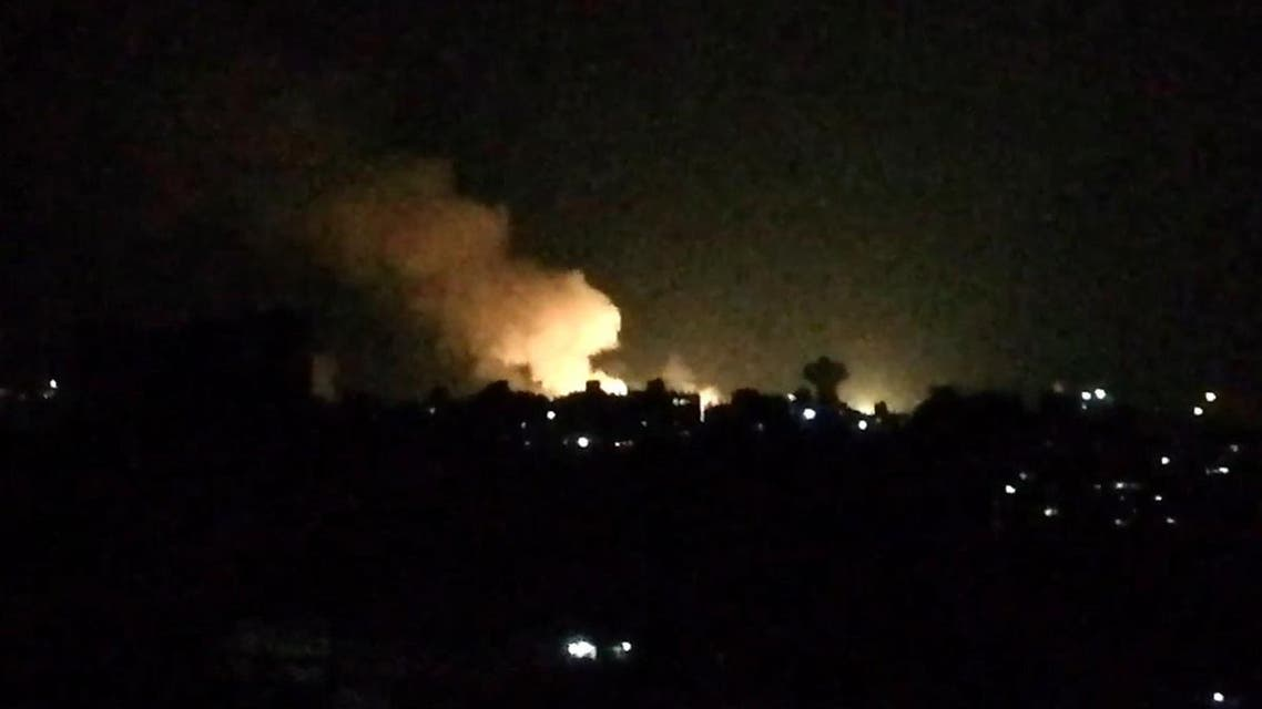 An image grab taken from an AFP video shows what appears to be smoke billowing over buildings near the Syrian capital Damascus, following a reported Israeli air strike overnight on July 1, 2019. (File photo: AFP)