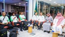عبدالعزيز الفيصل يستقبل بعثة المنتخب السعودي