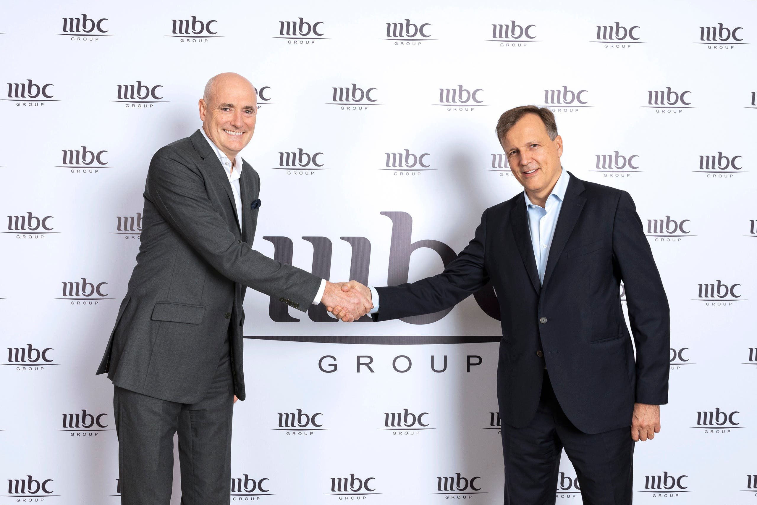 MBC Group former CEO Sam Barnett and new CEO Marc Antoine d'Halluin-Dec. 2019-Main