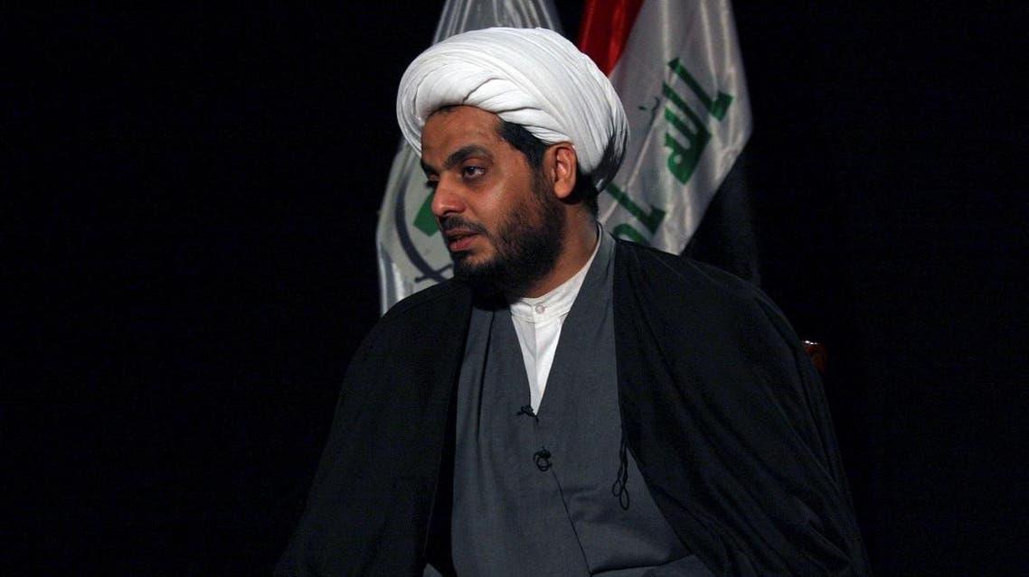 Qais al-Khazali, the leader of Asaib al-Haq, speaks to Reuters during an interview in Baghdad. (File photo: Reuters)