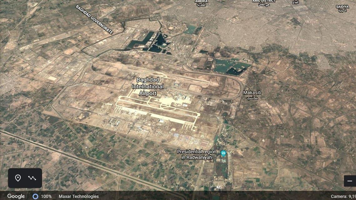 baghdad airport google earth