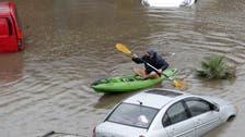 شاهد الأمطار تغرق لبنان.. ومواطنون في زوارق!