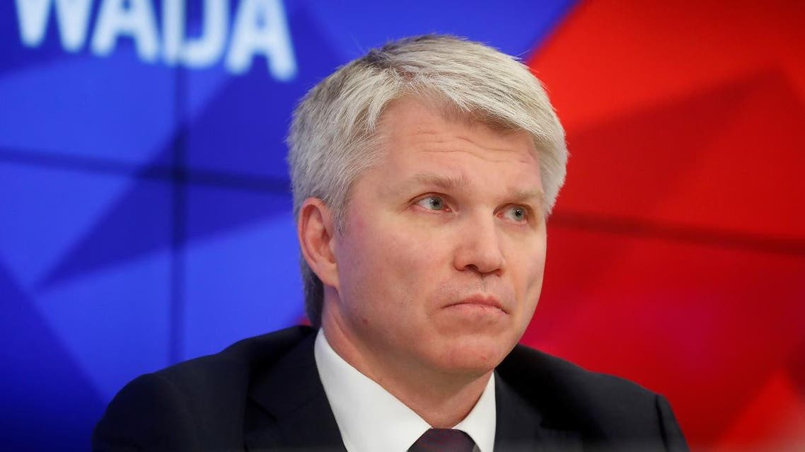Russian Sports Minister Pavel Kolobkov attends a news conference in Moscow, Russia. (Reuters)