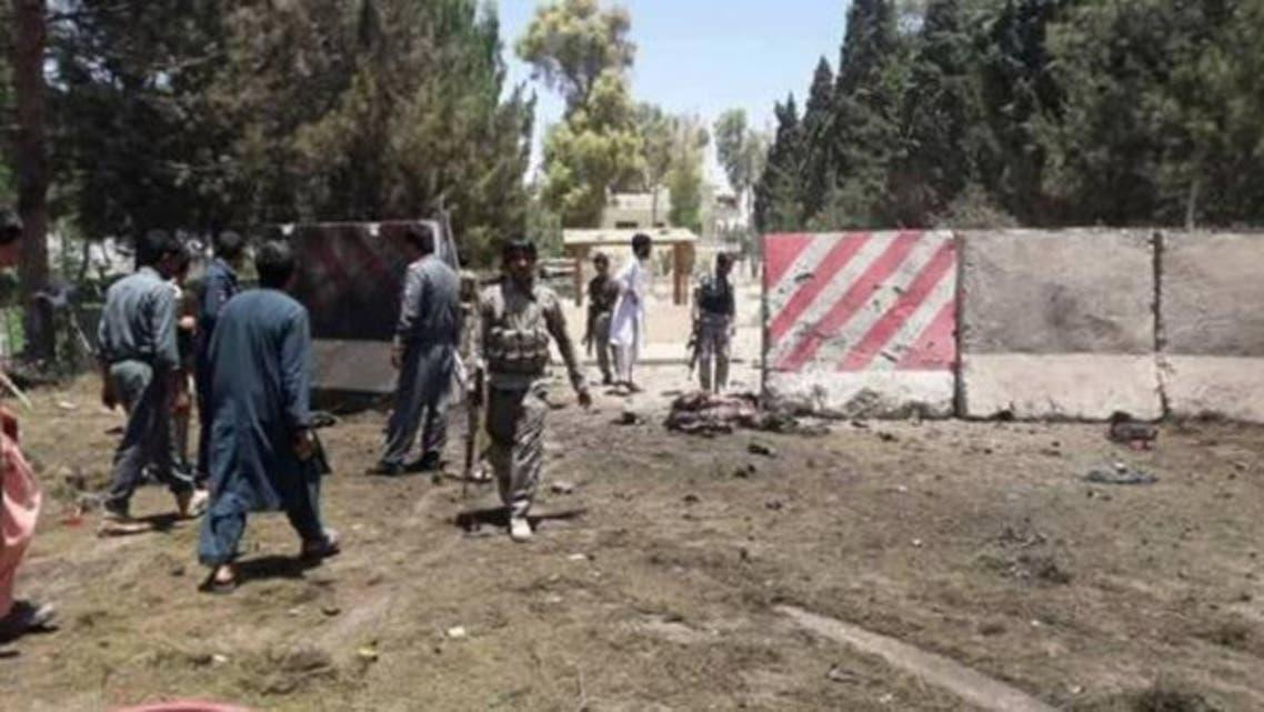 حمله انتحاری طالبان بر قرارگاه ارتش در هلمند افغانستان
