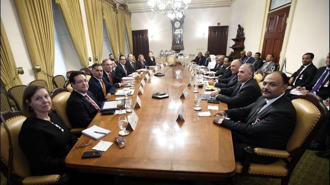 صورة من الاجتماع حول سد النهضة في واشنطن