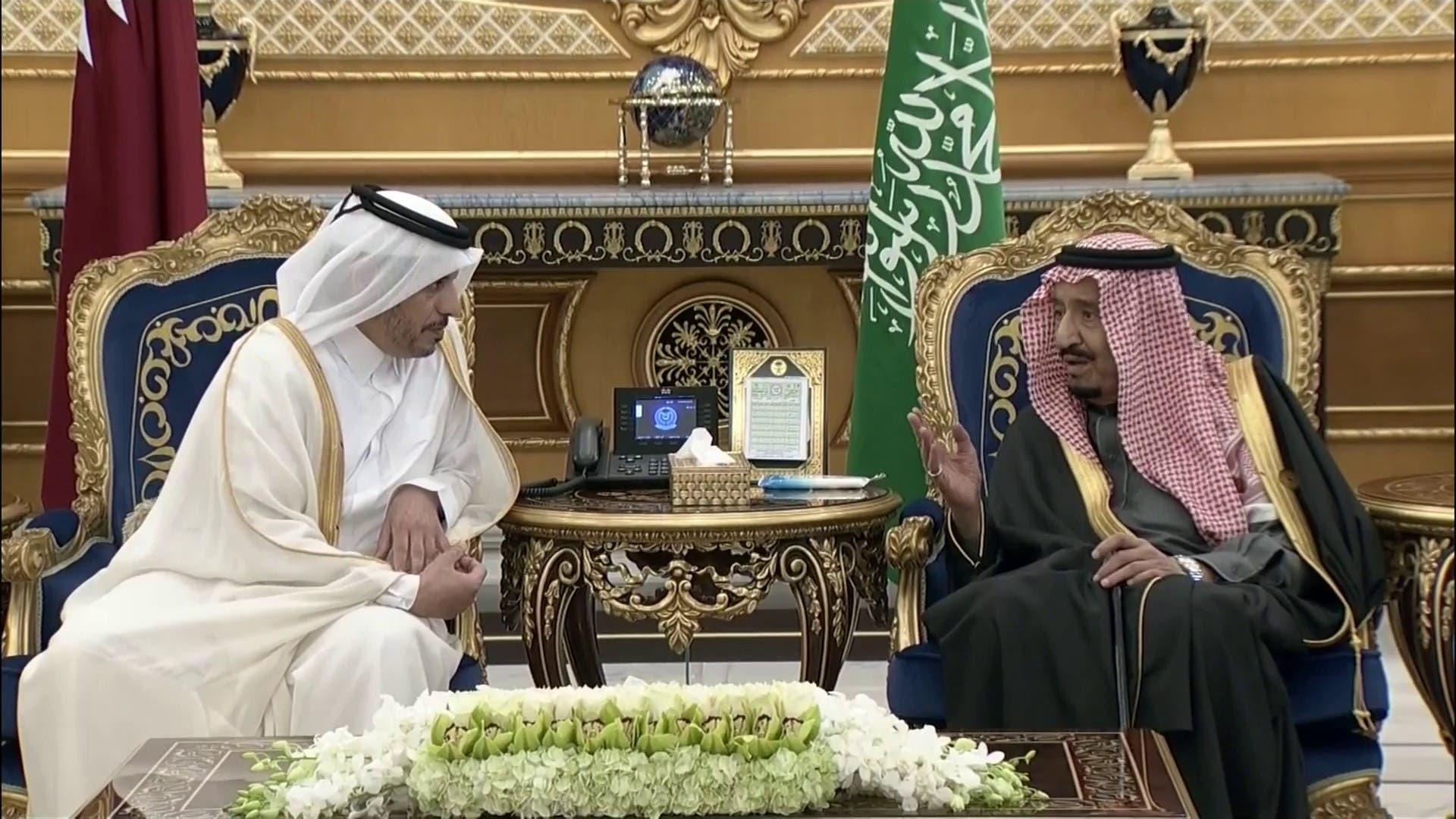الملك سلمان يستقبل رئيس مجلس الوزراء، وزير الداخلية القطري