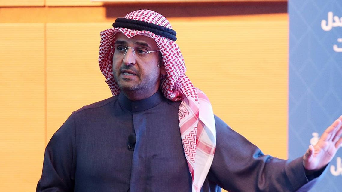 Kuwaiti Minister of Finance Nayef Al-Hajraf, speaks during a press conference in Kuwait City. (File photo: AFP)