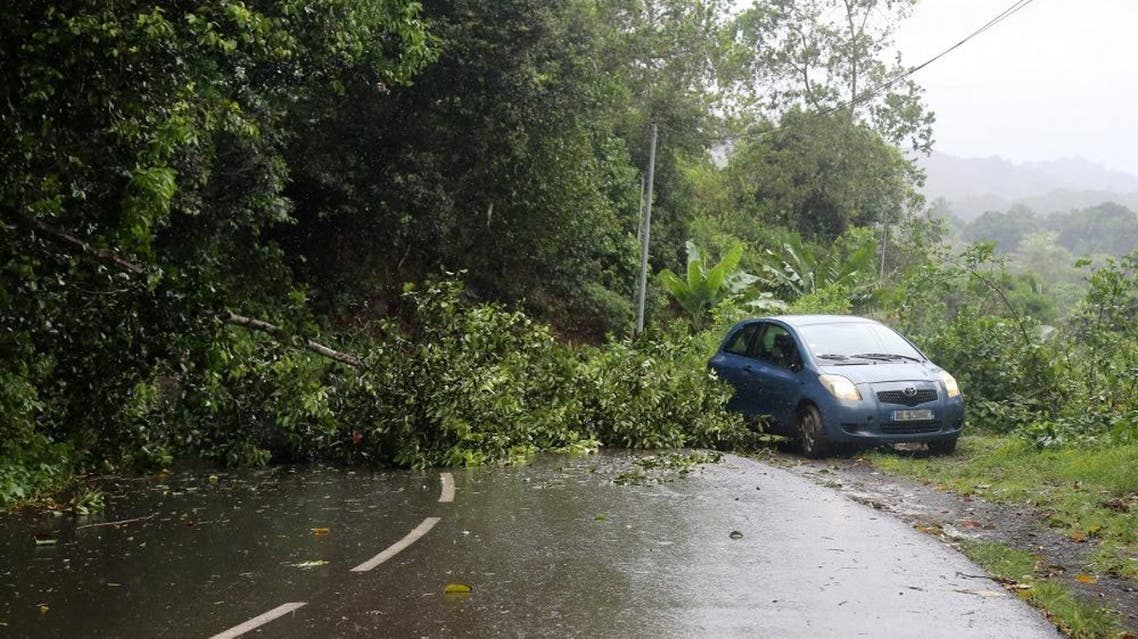 The small French Indian Ocean island of Mayotte announced a red alert as Cyclone Belna closed in on December 8 (AFP)