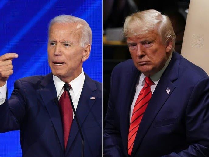 استطلاع: ترمب يتقدم على جو بايدن في الولايات المتأرجحة