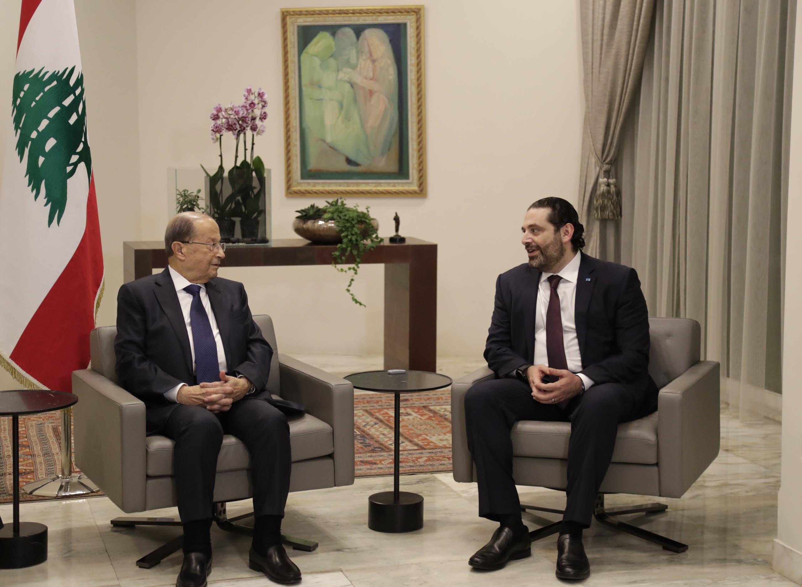 سعد الحريري وميشال عون (أرشيفية من فرانس برس)