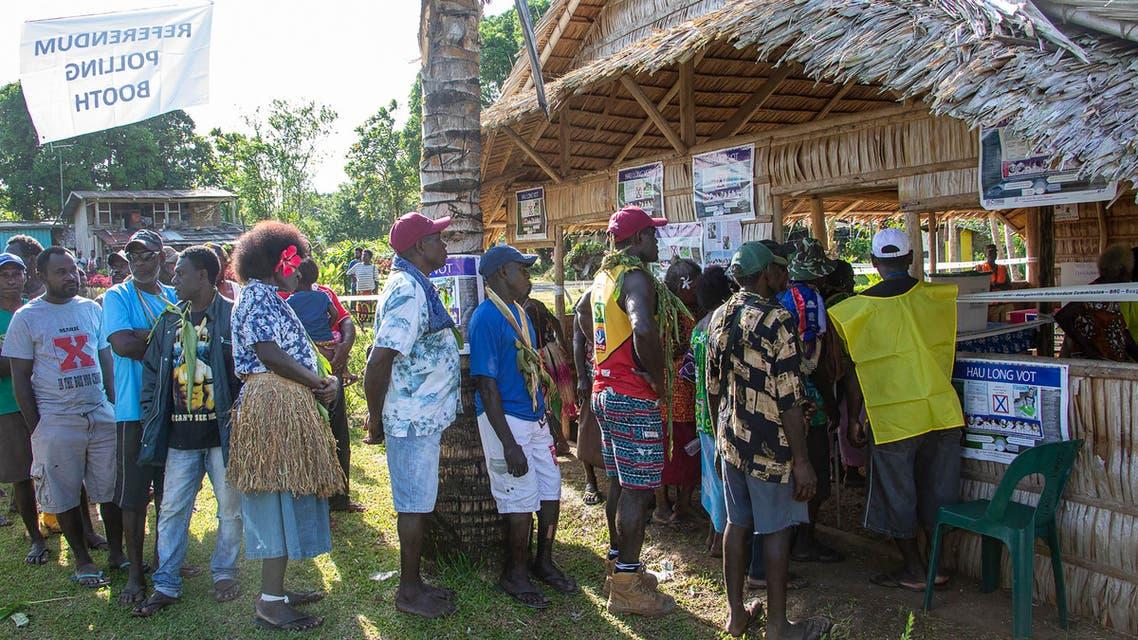 Bougainville poll queue - AFP