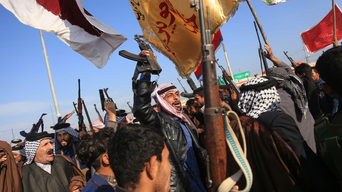 من احتجاجات العراق - عشائر كرلاء ترفع السلاح