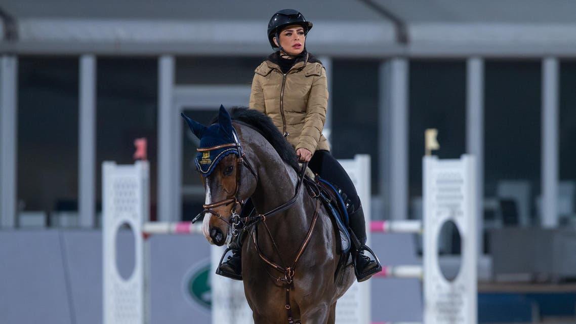 Saudi equestrian Dalma Dama Malhas training for the Diriyah Equestrian Festival - Supplied