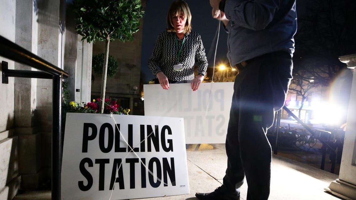Polling station UK election - Reuters