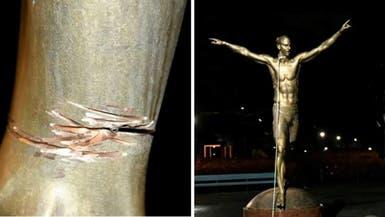 تمثال إبراهيموفيتش يتعرض للتشويه مجدداً