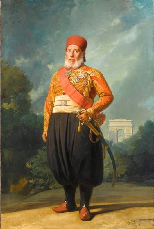 لوحة تجسد ابراهيم باشا ابن محمد علي باشا
