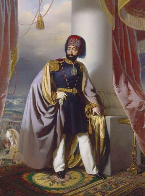 صورة للسلطان العثماني محمود الثاني