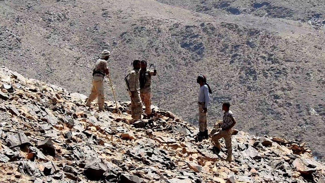 الجيش اليمني  سلسلة جبال قشعان في محافظة الجوف 4