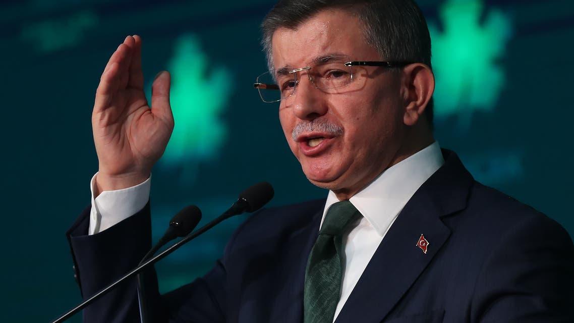 أحمد داود أوغلو مطلقاً حزبه الجديد في أنقرة (13 ديسمبر 2019- فرانس برس)