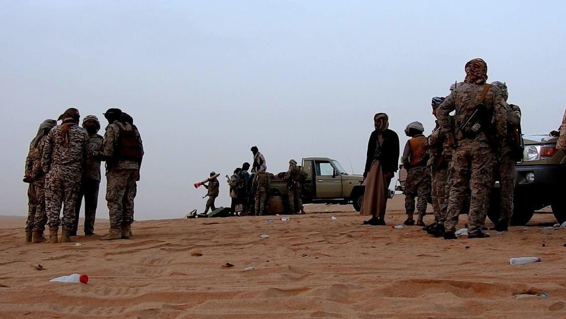 الجيش اليمني  سلسلة جبال قشعان في محافظة الجوف 3