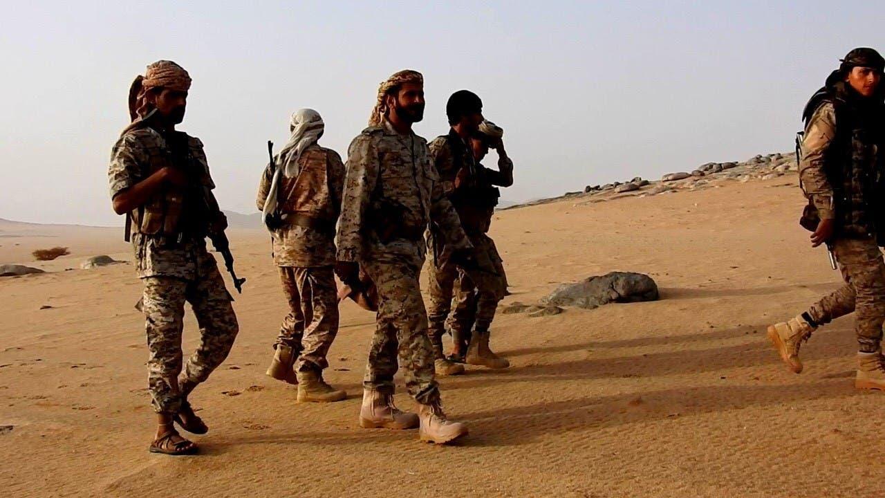 قوات من الجيش اليمني في محافظة الجوف