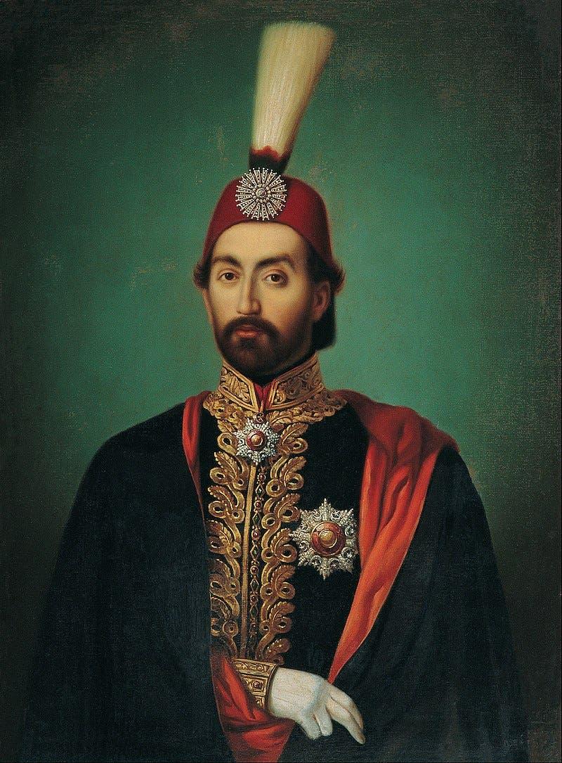 صورة للسلطان العثماني عبد المجيد الأول