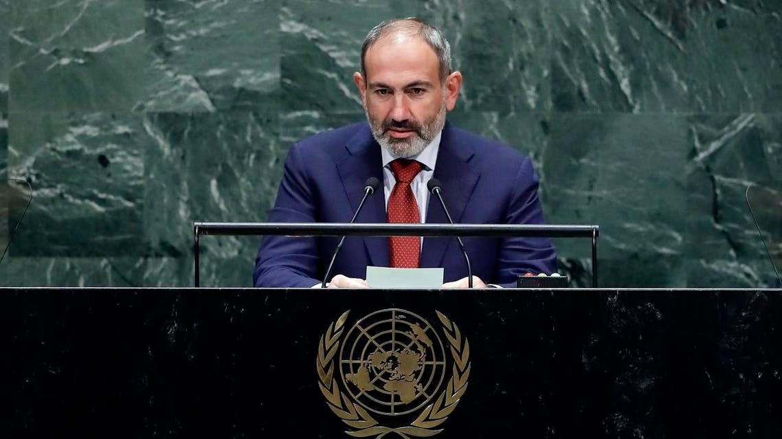 Armenian Prime Minister Nikol Pashinyan addresses the 74th session of the United Nations General Assembly. (File photo: AP)