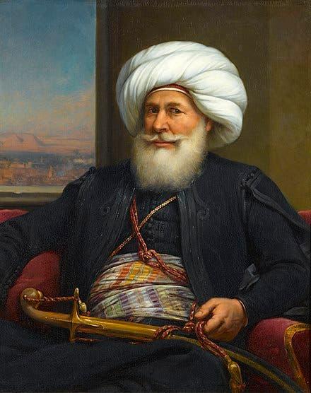 لوحة تجسد محمد علي باشا والي مصر