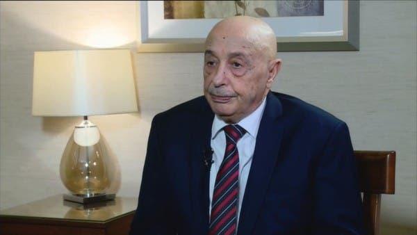 من القاهرة.. عقيلة صالح يدعو لتدخل عسكري مصري بليبيا