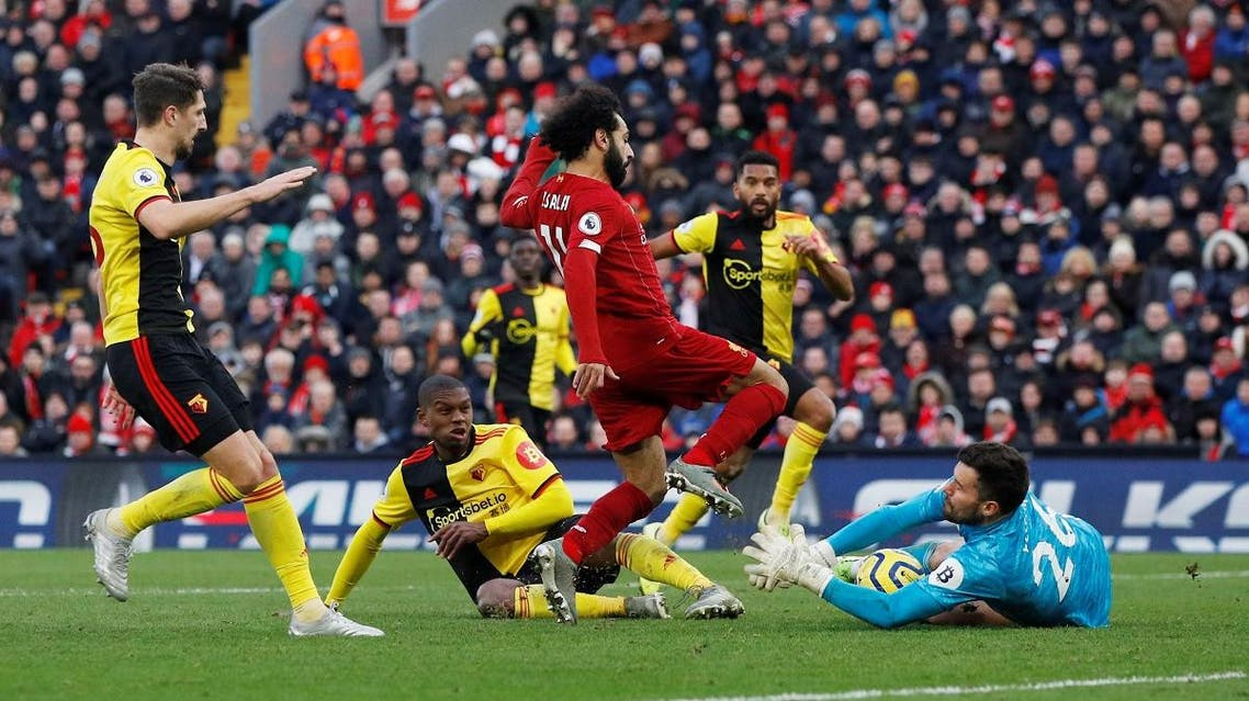 Football - Premier League - Liverpool v Watford - Anfield, Liverpool, Britain - December 14, 2019. (Reuters)