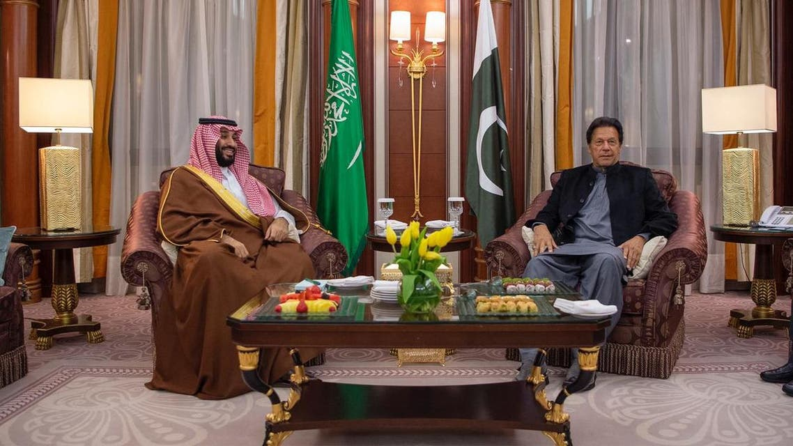 Saudi Arabia's Crown Prince meets with Pakistan's prime minister in Riyadh