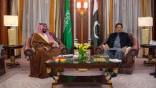 Saudi Arabia's Crown Prince meets with Pakistan's prime minister in Riyadh