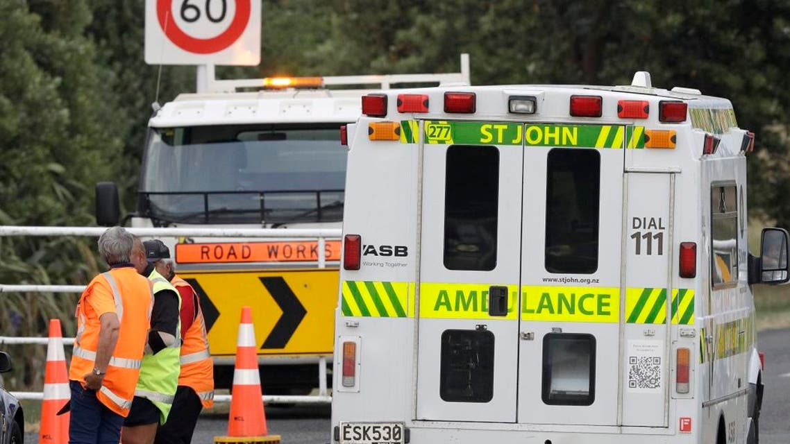 An ambulance arrives at Whakatane Airport, as the recovery operation to return the victims of the Dec. 9 volcano eruption continues off the coast of Whakatane New Zealand. (Photo: AP)
