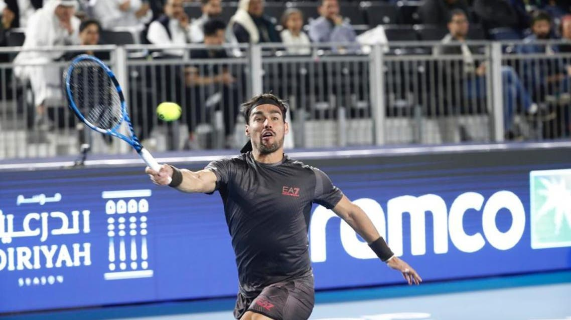 Italian star Fognini overcame the spirited efforts of the crowd-favorite Monfils 6-4, 6-4. (Supplied)