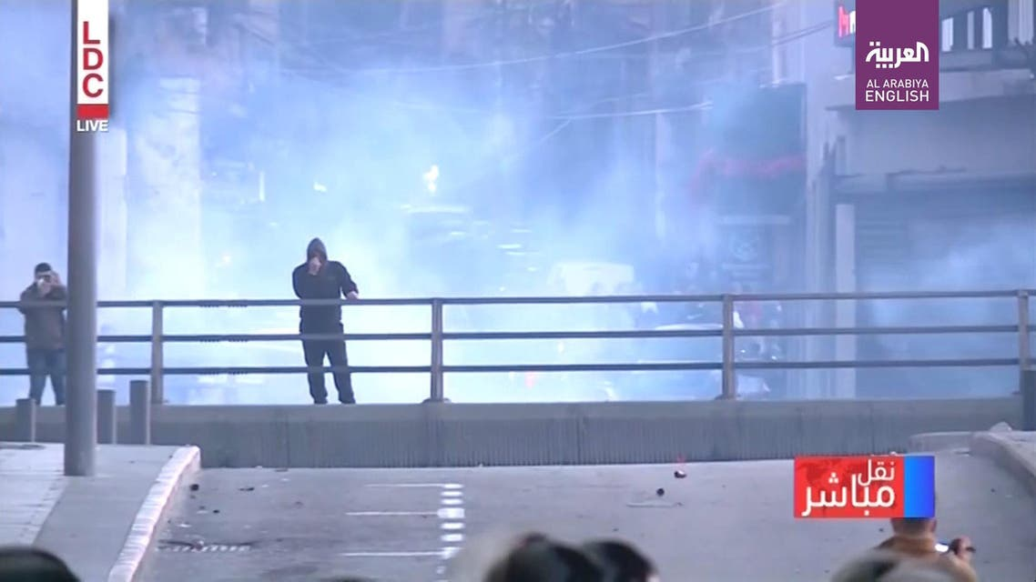 clashed with riot police