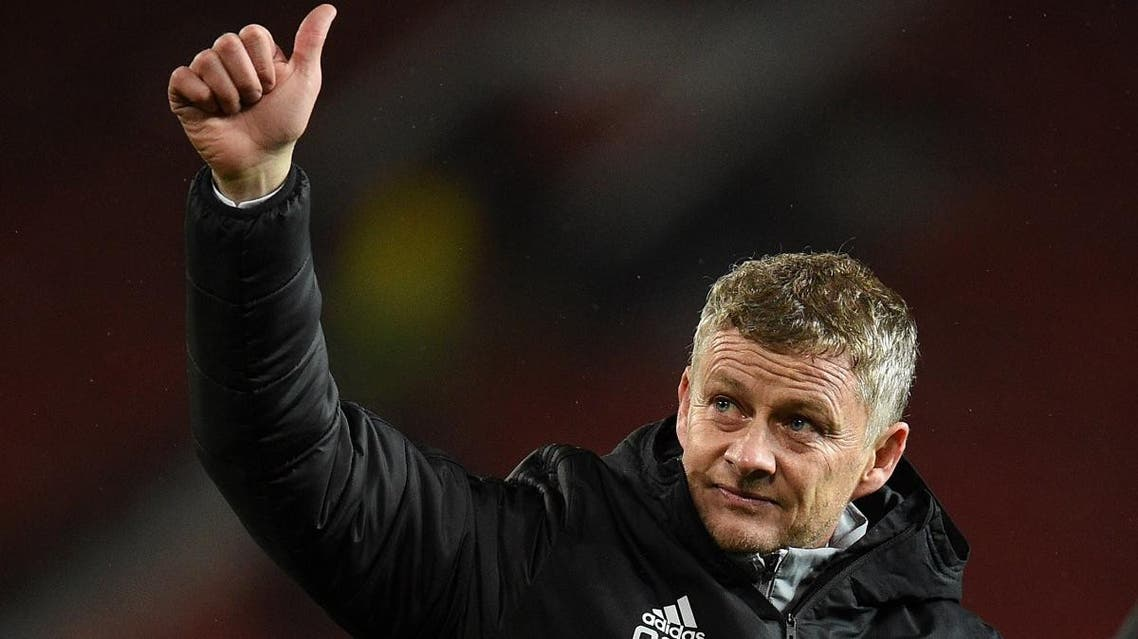 Manchester United's Norwegian manager Ole Gunnar Solskjaer walks off the pitch after the UEFA Europa League Group L football match between Manchester United and Partizan Belgrade at Old Trafford in Manchester, north west England, on November 7, 2019. (AFP)