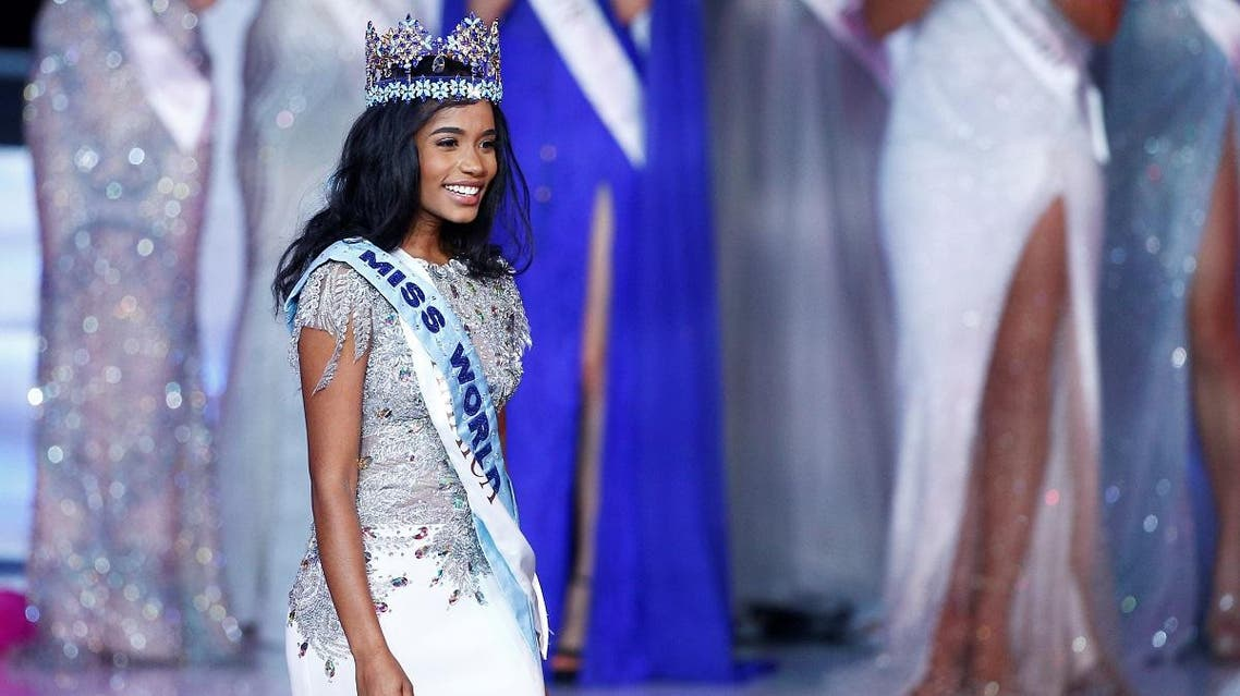 Miss World 2019 Toni Ann Singh of Jamaica celebrates winning the Miss World final in London, Britain. (Reuters)