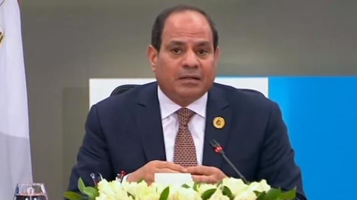President Abdel-Fattah al-Sisi during  his televised speech on December 15, 2019. (Screengrab)ts